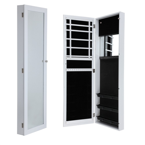 door and wall mounted mirrored jewellery cabinet the. Black Bedroom Furniture Sets. Home Design Ideas
