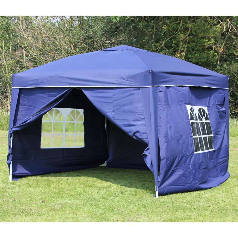 10 x 10 palm springs ez pop up canopy gazebo tent with 4. Black Bedroom Furniture Sets. Home Design Ideas